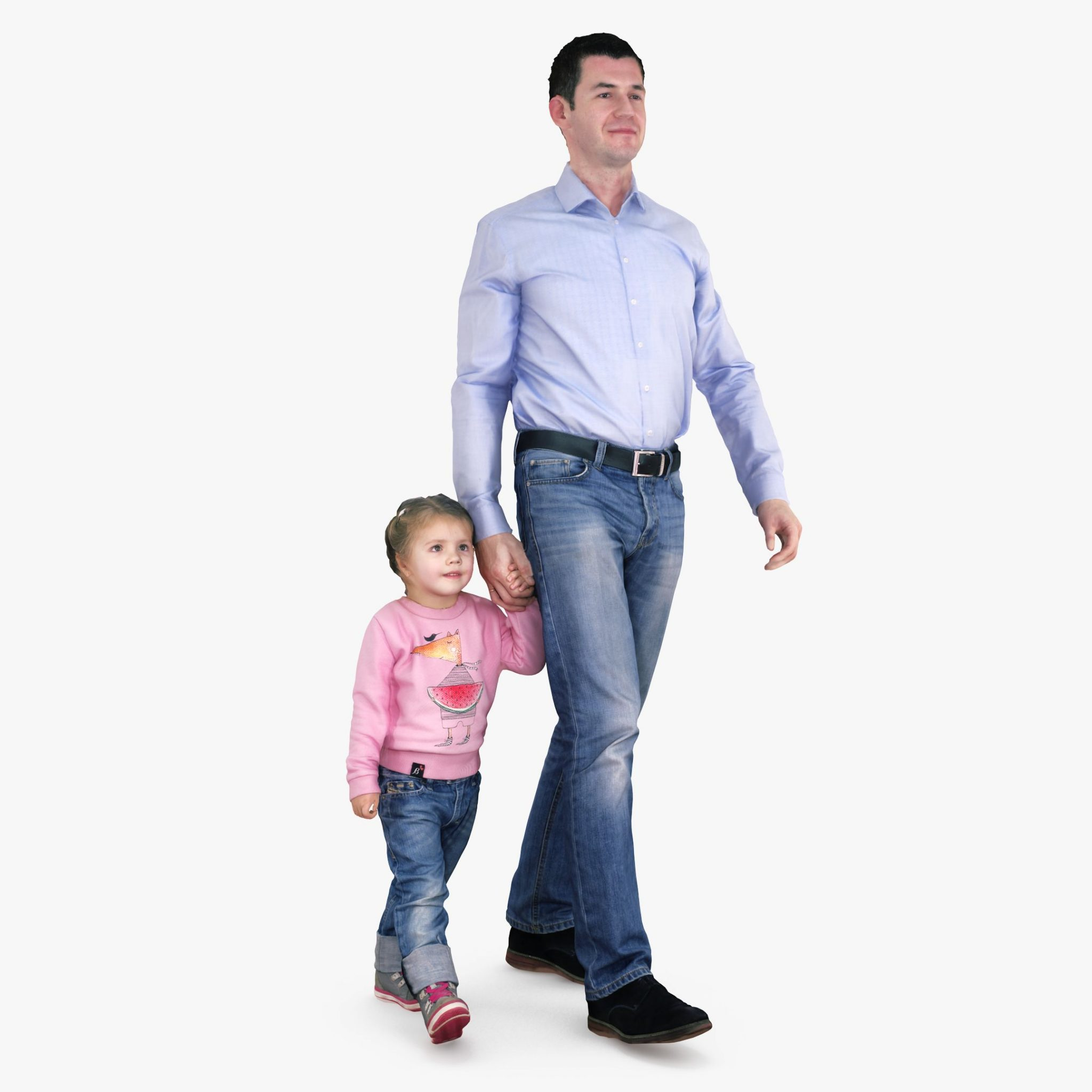 Daddy and Daughter 3D Model | 3DTree Scanning Studio
