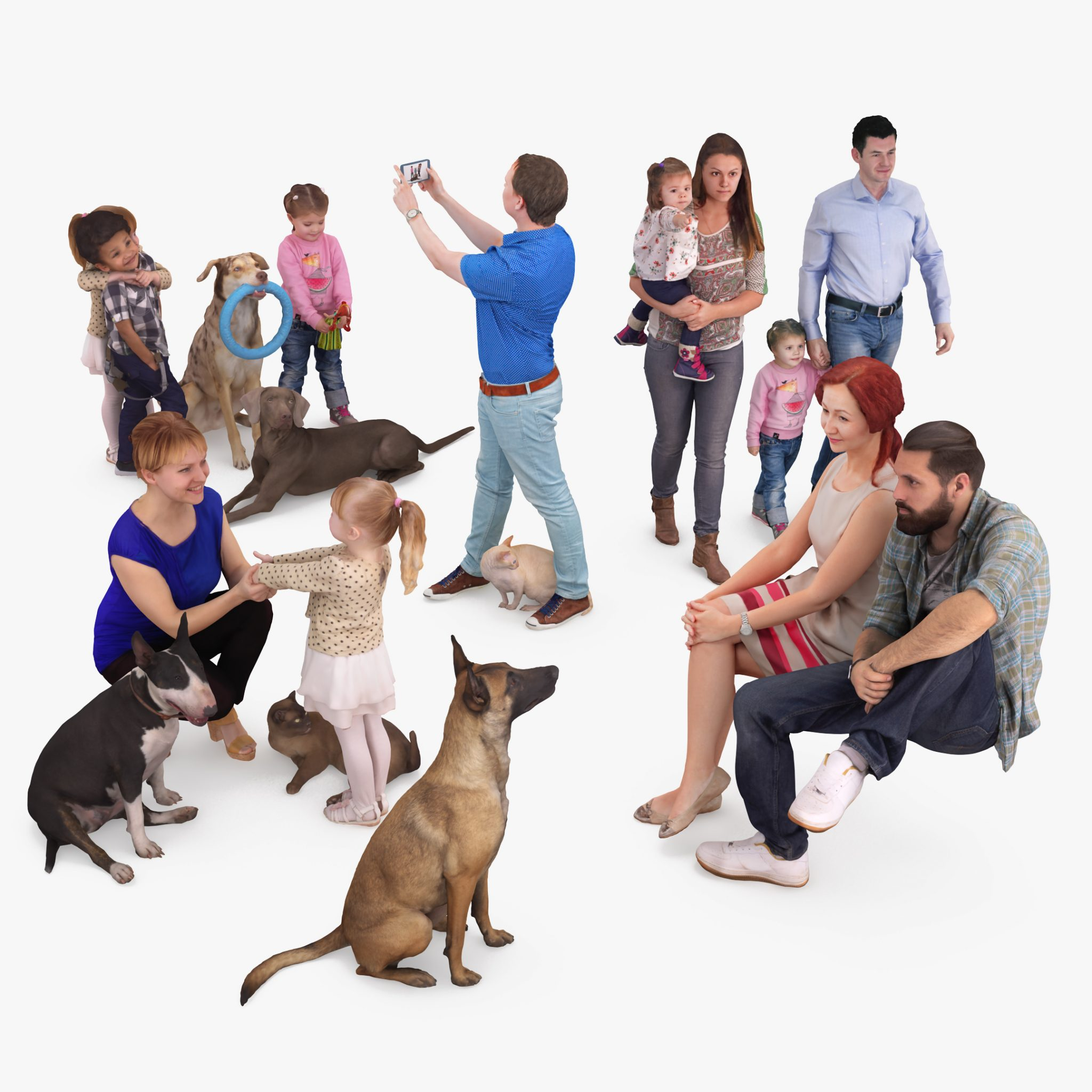 Pets and People Collection x14 3D Models | 3DTree Scanning Studio